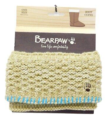 Ivory Bear Bearpaw Women/'s Knit Cuff Boot Toppers