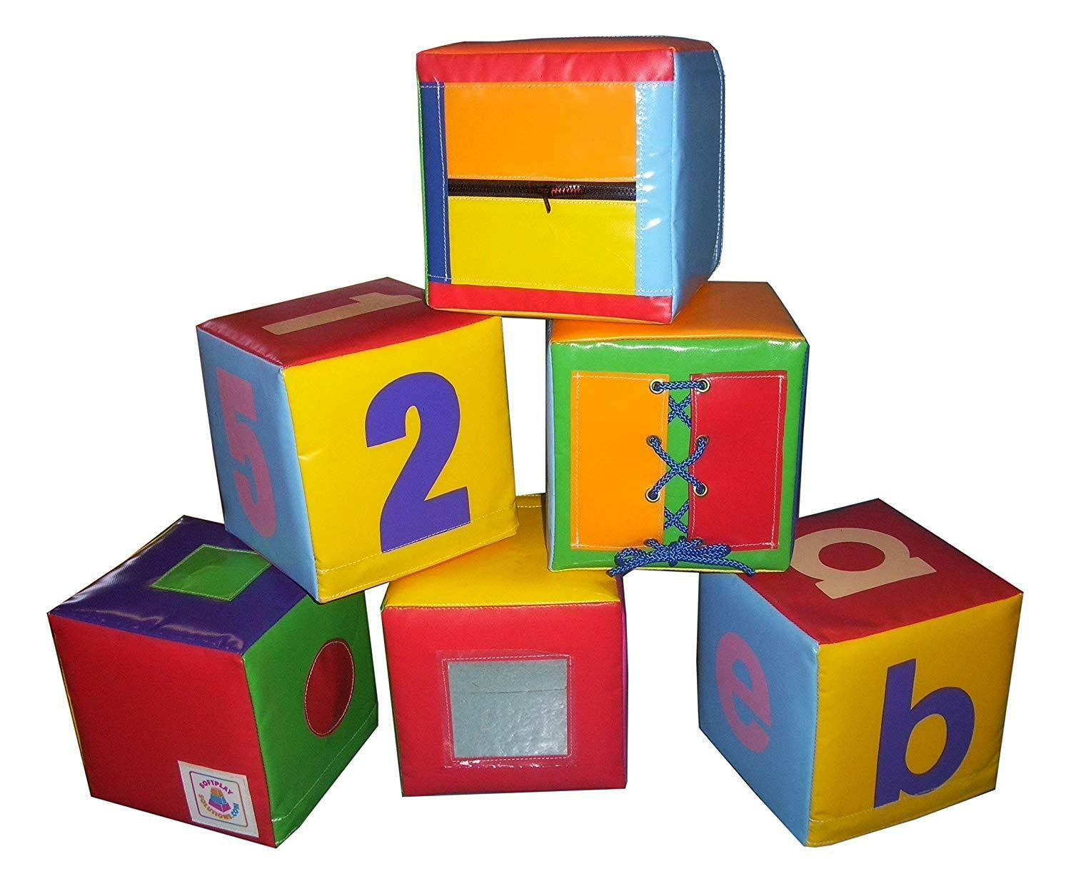 SOFT PLAY SET OF 6 ACTIVITY CUBES   High quality soft play equipment