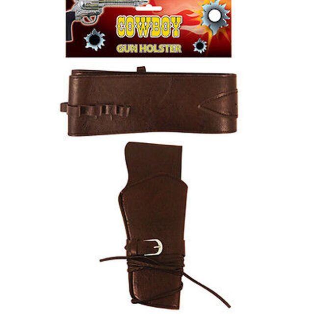 Western Cowboy Gun Pistol Holster Belt Fancy Dress Costume Halloween party unise