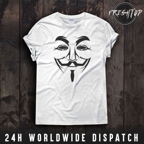 Anonymous Mask Face T Shirt Mr RoborDoS DDoS Cyberattack Evil Corp Bitcoin