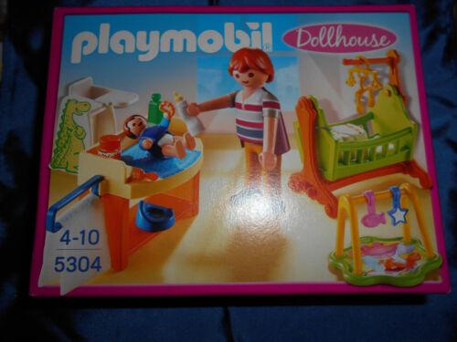 Playmobil 5304 Dollhouse Babyzimmer mit Wiege Papa und Baby neu