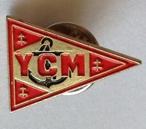 YCM-Naval-Pennant-Pin-Badge-Anchor-Design-Military-Rare-Vintage-D6