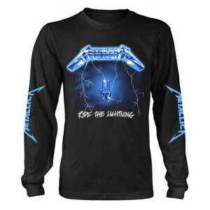 Metallica-039-Ride-The-Lightning-039-Black-Long-Sleeve-T-shirt-NEW