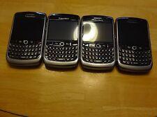 Lot Of (4) Blackberry Curve 8900 Unlocked (Black) Smartphones