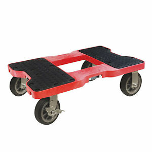 Snap Loc 1500 Pound Capacity All Terrain E Track Dolly Cart with Swivel Casters