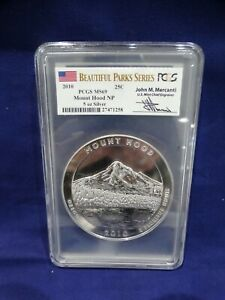 2010 BEAUTIFUL PARKS SERIES PCGS MS69 MOUNT HOOD NP 5 OZ SILVER