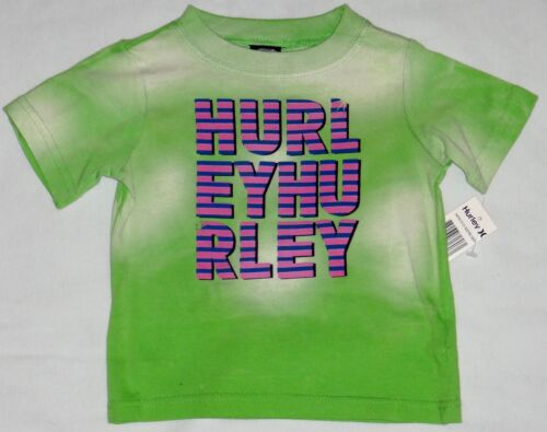 NEW INFANT BOYS HURLEY T-SHIRT ELECTRIC GREEN