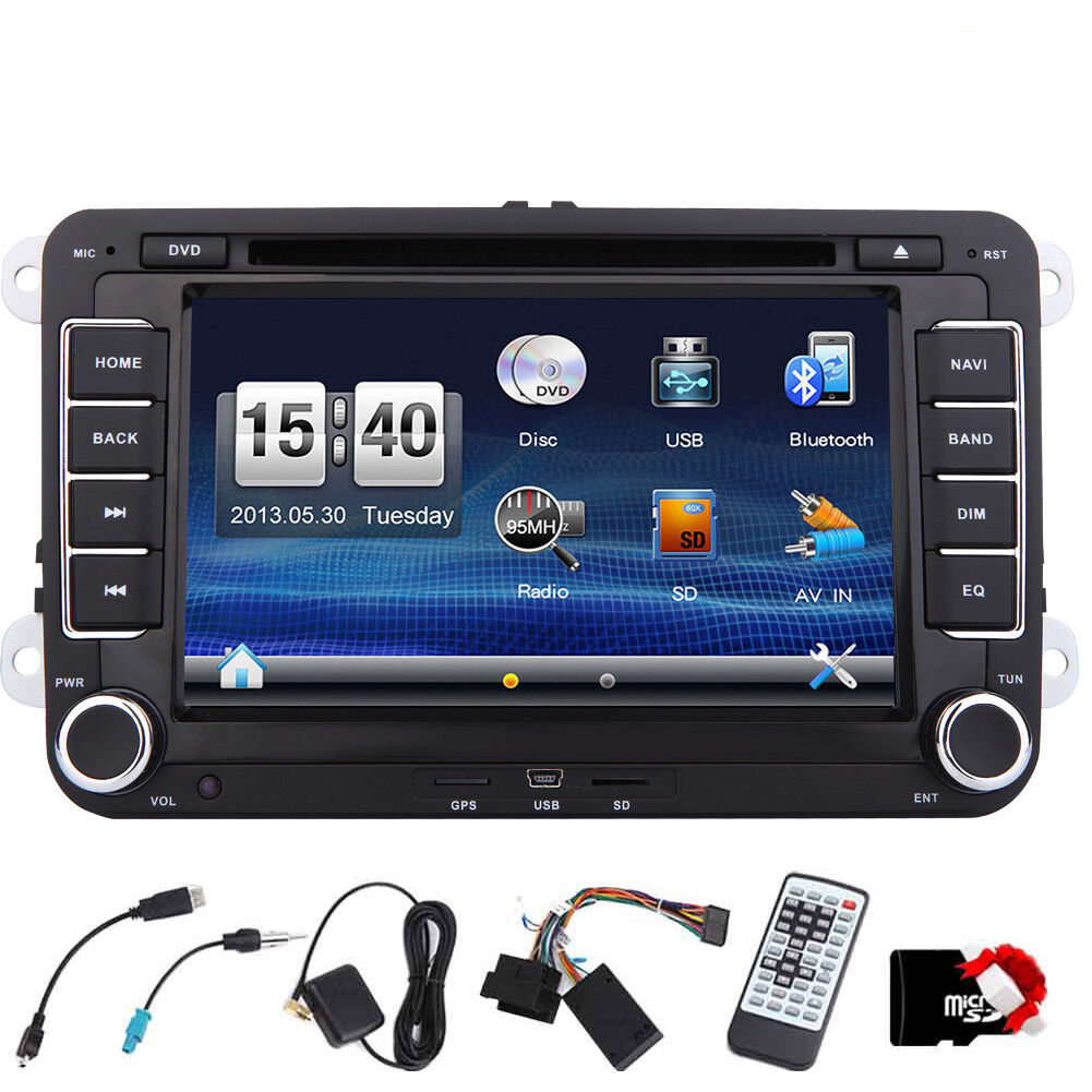 autoradio mit gps navigation navi bluetooth touchscreen dvd cd usb doppel 2din ebay. Black Bedroom Furniture Sets. Home Design Ideas