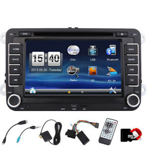 Doppel-din-Autoradio-Bluetooth-GPS-Sat-Nav-DVD-Fuer-VW-PASSAT-GOLF-5-6-POLO-Caddy