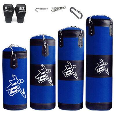 Heavy Boxing Punching Bag Speed Training Kicking Workout W// Chain Hook