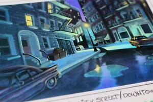 Walt-Disney-TV-Animation-BONKERS-1993-Color-Key-Laser-Background-Downtown-Street