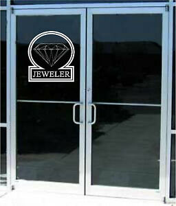 Delicieux Image Is Loading Jeweler Jewelry Business Sign Sticker Decal Window Glass