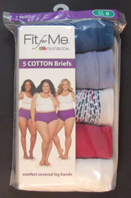 cfb2ff20f5e9aa NEW 5-PACK Fruit of the Loom Womens Fit for Me Cotton Briefs Panties Plus