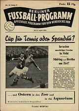 Berliner Pokal-Endspiel 1953/54 Tennis Borussia - Spandauer SV, 11.04.1954