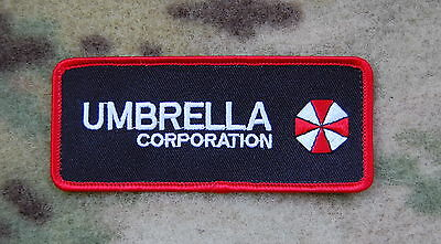Resident Evil Umbrella Corporation Army Morale Chest Rubber Hook Loop Patch  UA