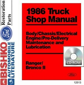image is loading 1986-ford-bronco-ii-ranger-shop-service-repair-