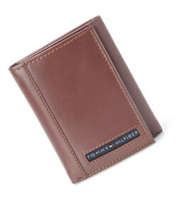 Tommy-Hilfiger-Mens-Tan-Leather-Cambridge-Trifold-Passcase-Wallet-in-Gift-Box