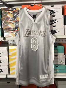 Details about Reebok NBA Los Angeles Lakers Kobe Bryant No #8 Jersey Medium Silver White Grey