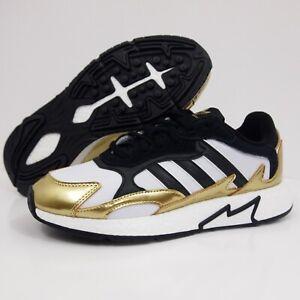 Adidas-Boost-Tresc-Run-Shoes-Black-Metallic-Gold-White-Men-s-SZ-New