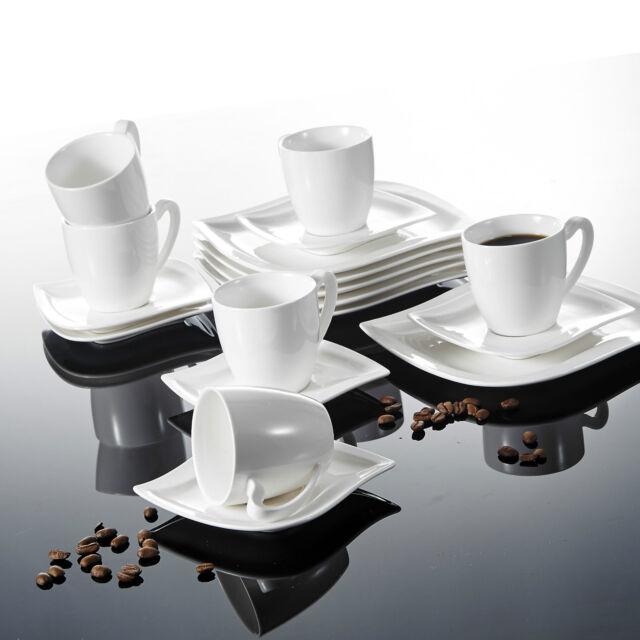 Malacasa 18pcs Porcelain Ceramic Coffee Tea Cups Saucers Dessert Plates 6 Sets  sc 1 st  eBay & Malacasa 18pcs Porcelain Ceramic Coffee Tea Cups Saucers Dessert ...
