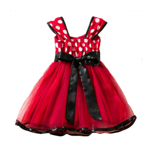 Baby Kids Girls Minnie Mouse Birthday Party Princess Costume Ballet Tutu Dresses