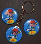 1971 Topps Baseball Wrapper Set of 3 Key Chain, Magnet and Pinback Button 1.50