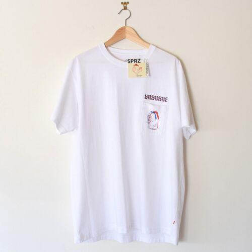 Barry McGee Uniqlo SPRZ NY Men/'s Graphic Pocket T-Shirt Multi Sizes White NEW
