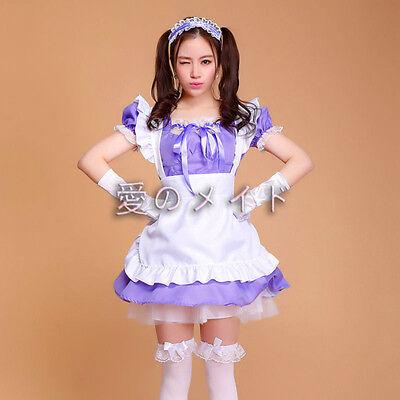 NEW!Lolita Princess Apron Dress Maid Outfits Meidofuku Uniform Cosplay Costume