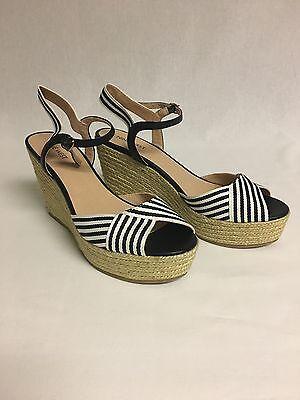 Nine West Breeze Women Open Toe Canvas Wedge Sandal US Shoe Size 9.5 Medium M,B | eBay