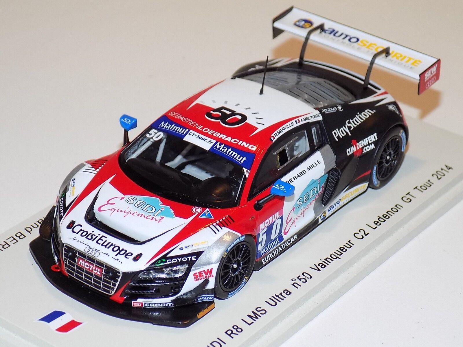1/43 Spark Audi R8 LMS Ultra coche 2 GT Tour 2018 C2 ganador SF076