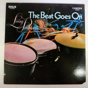 Vinyl-Record-Living-Percussion-The-Beat-Goes-On-CAS-2255-RCA-Camden-1969-Jazz