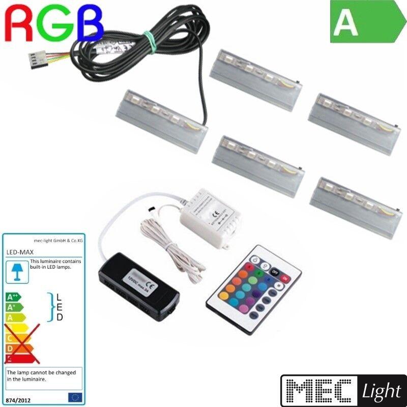1-6 RGB CLIP come come come bordi di vetro illuminazione RGB + Controller + LED Trasformatore-completamente 13add3