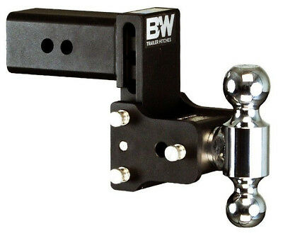 2 Ball Hitch >> B W Black Tow Stow Dual Ball Hitch Receiver 2 5 16 2 Ts30037b Adjustable 3 843233004205 Ebay
