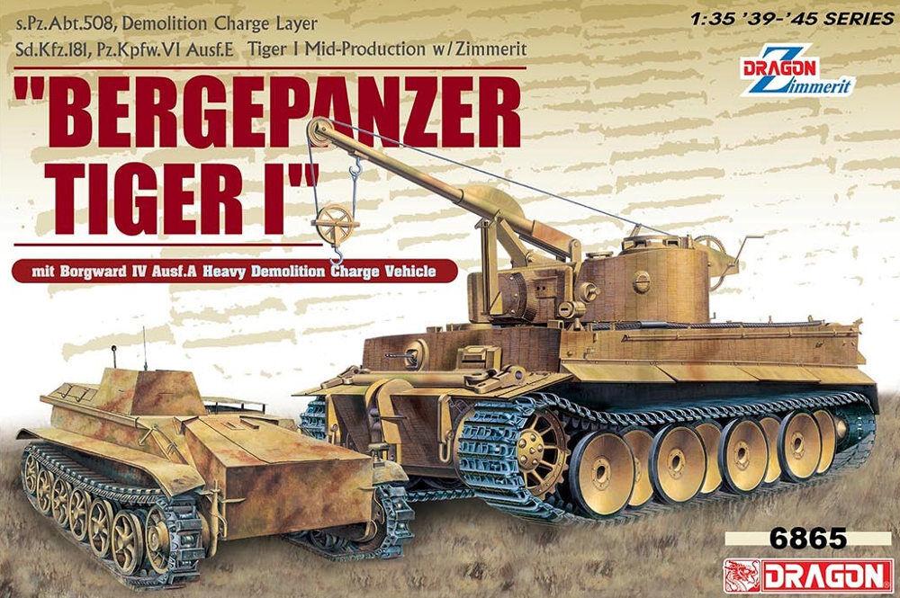 DRAGON 6865 Bergepanzer Tiger I & Borgward IV Ausf.A Demolition vehicle