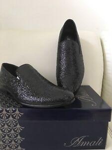 Amali-Mens-Dress-Black-Metallic-Glitter-Slip-On-Prom-Wedding-Tuxedo-Shoes