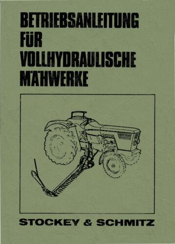 Deutz Baureihen 06 Bedienungsanleitung S/&S vollhydraulische Mähwerke f