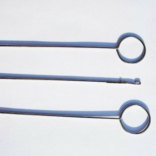 1PCS Metal Loop Turner Hook With Latch For Turning Fabric Tubes Straps St ooll