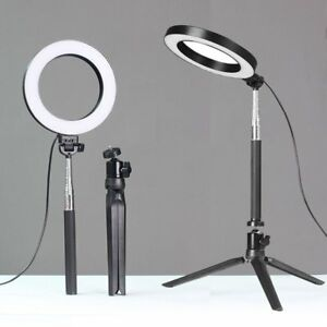 "6"" LED Ring Light with Stand 5500K Dimmable Lighting Kit for Makeup Phone Camera 634383421017"