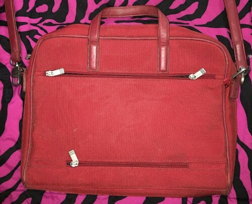 Tumi Large Business Crimson Red Laptop Bag