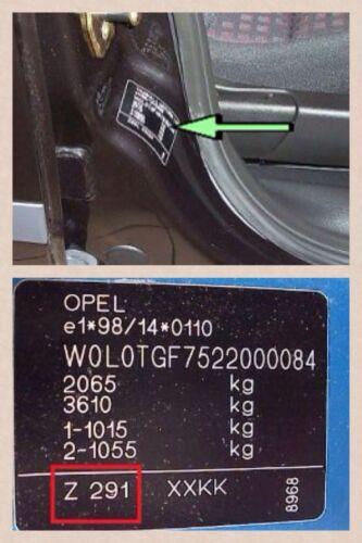 A1 o//s Metro Azul Genuino Nuevo Opel Astra H MK5 Puerta Cubierta De Espejo Ala Sri XP