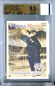 1997 Scoreboard #58 Mickey Mantle YANKEES WORN JERSEY BGS 9.5 GEM MINT