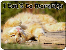 I Don't Do Mornings! Ginger Cat Mouse Mat, Mousepad,