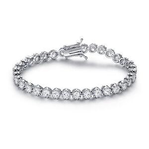 Rhodium-Plated-Cubic-Zirconia-Crown-Tennis-Bracelet