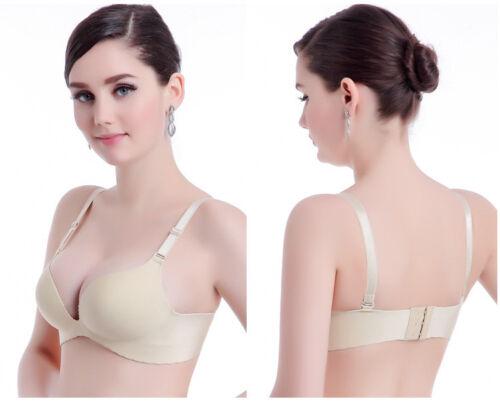 Women/'s Everyday Basic Comfort Lightly Padded Underwire Plunge T-Shirt Bra klv
