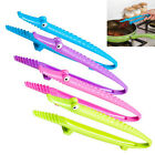 Newly Plastic Cooking Kitchen Tongs Food BBQ Salad Bacon Steak Bread Clip Clamp
