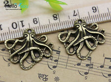 Wholesale lot retro Jewelry Making octopus alloy charms pendant DIY 20x24mm