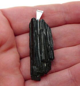 Gran-Colgante-Pendulo-Turmalina-Negra-Natural-Plata-1-Ley-925-Nuevo
