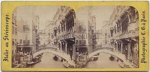 Venezia Italia Stereo Vintage Albumina Ca 1870