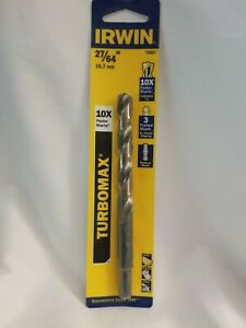Irwin  Turbomax  High Speed Steel  Straight  1//4 in Dia Drill Bit  1