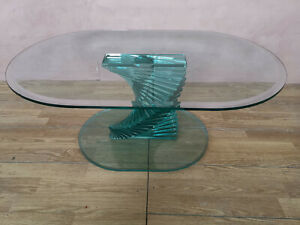 Tavolo In Vetro Usato.Tavolo Da Salotto In Vetro Cristallo Vintage Usato Ebay